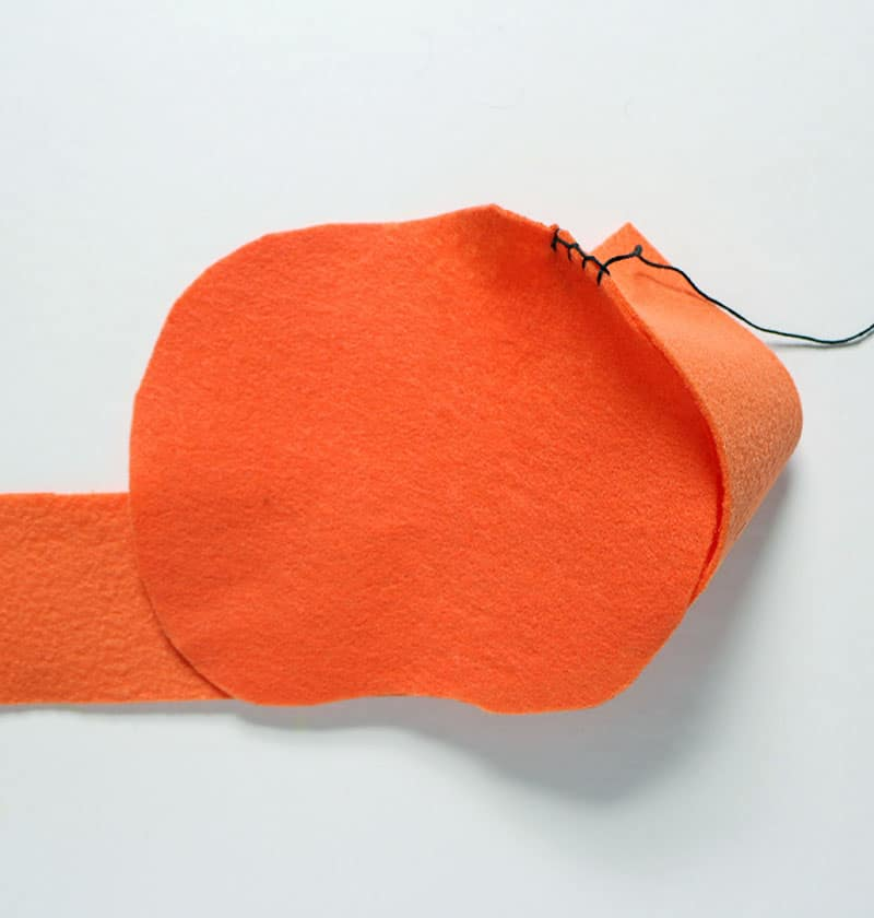 Diy mini felt pumpkin tote sew
