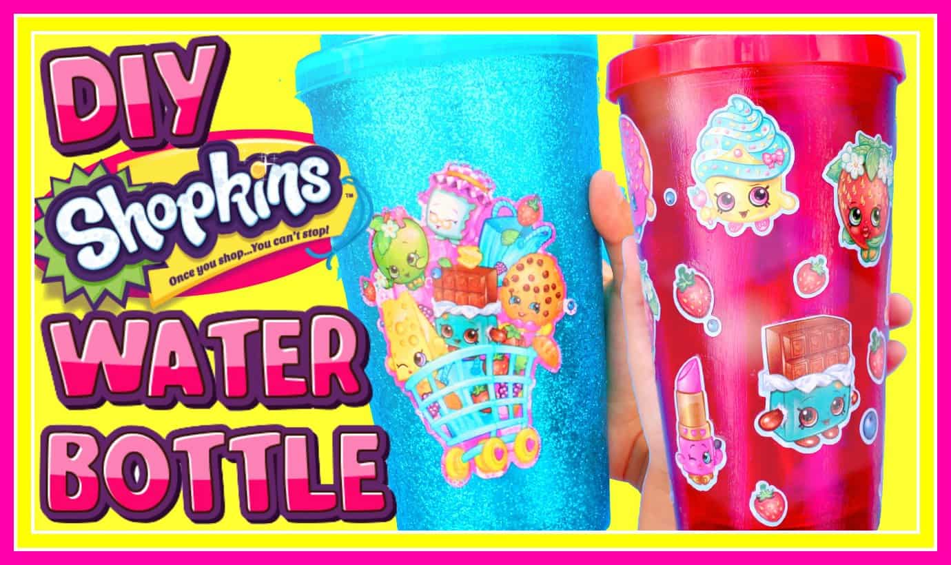 Diy shopkins water bottle