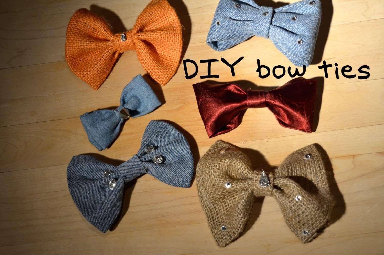 DIY embellished bow ties