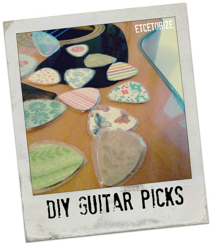 Diy laminated guitar picks