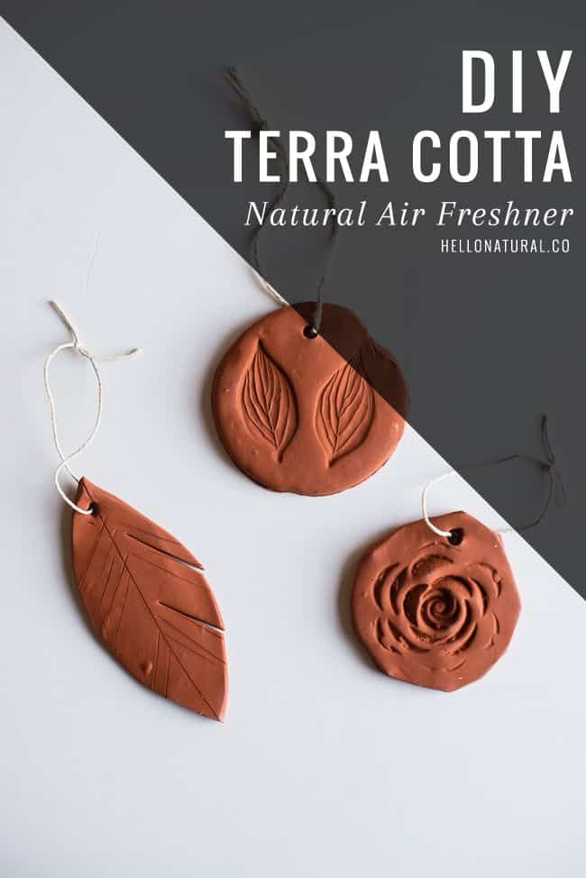 Diy natural terra cotta air freshener
