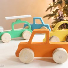 Diy wooden push cars