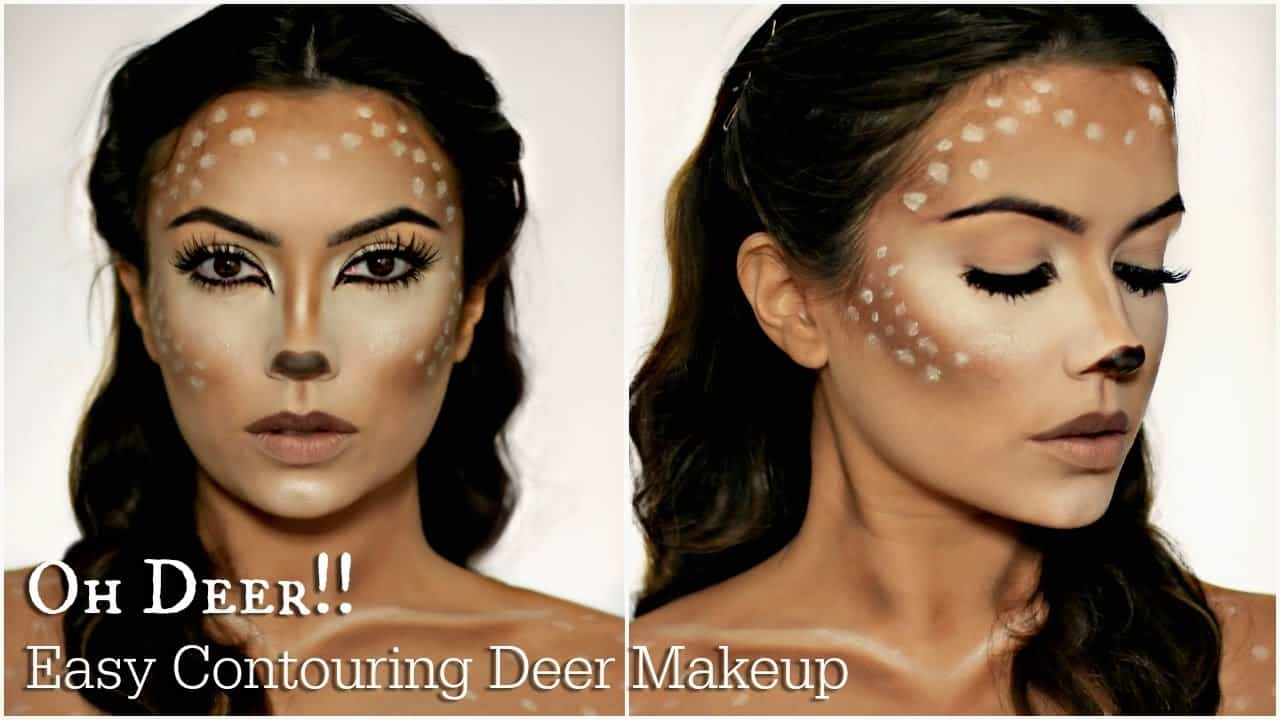 Deer halloween makeup tutorial