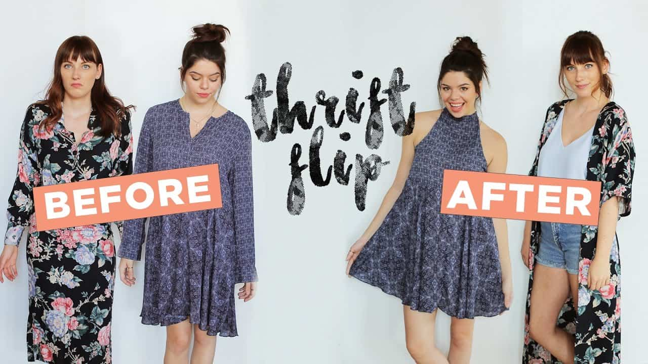 Double thrift refashion tutorial