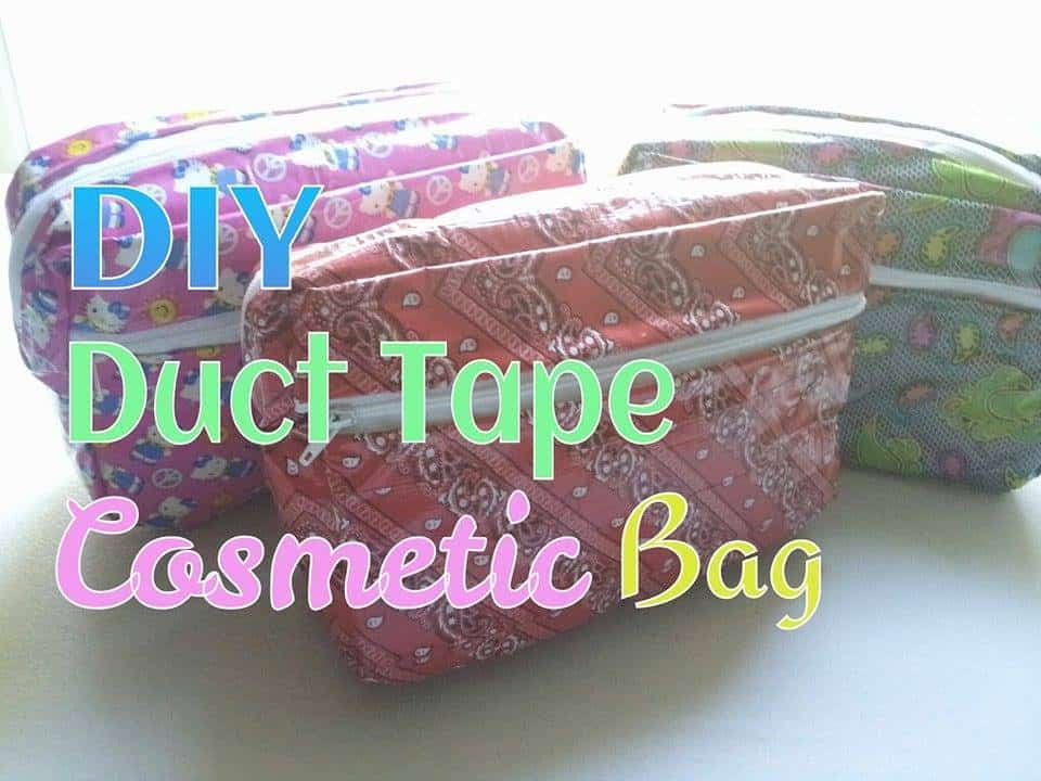Duct Tape Cosmetic Bag