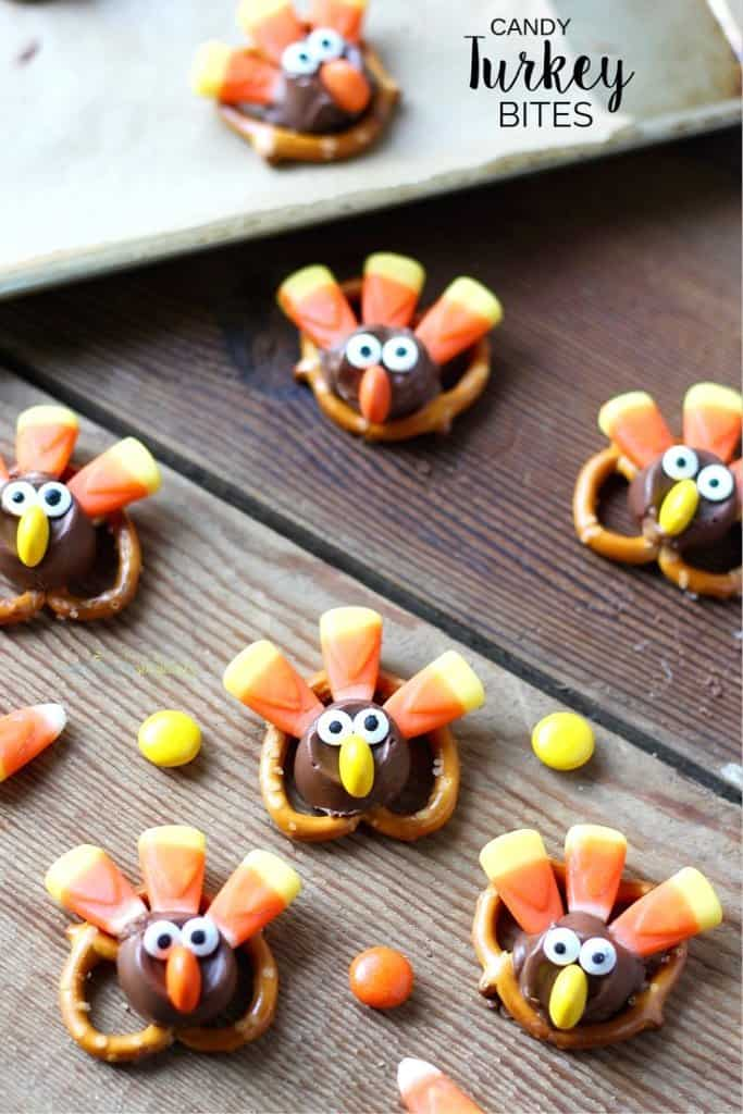 Easy candy turkey bites