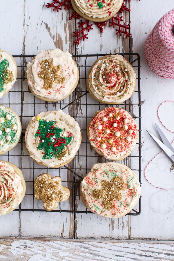 Easy slice n bake vanilla bean christmas sugar cookies w whipped buttercream 71