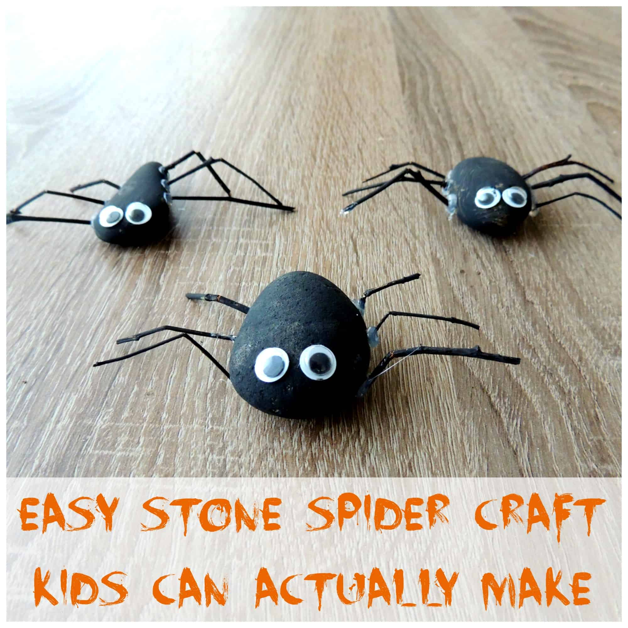 Easy stone spiders