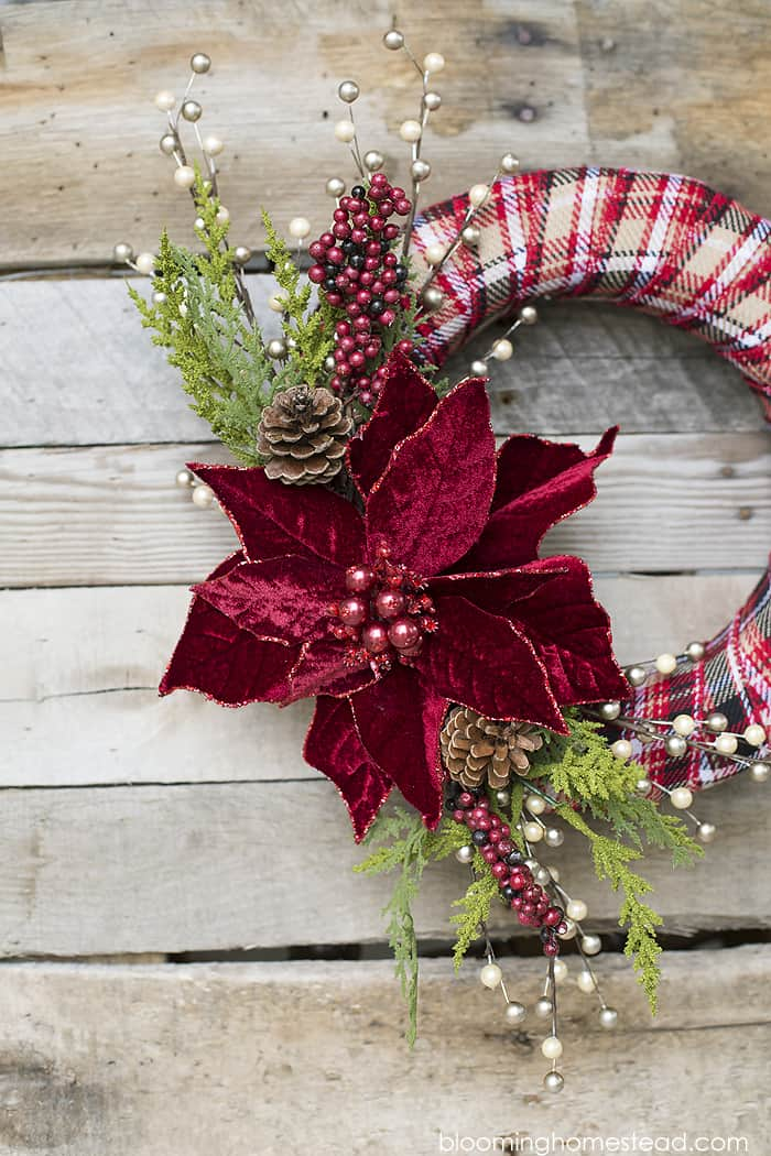 Elegant christmas wreath diy