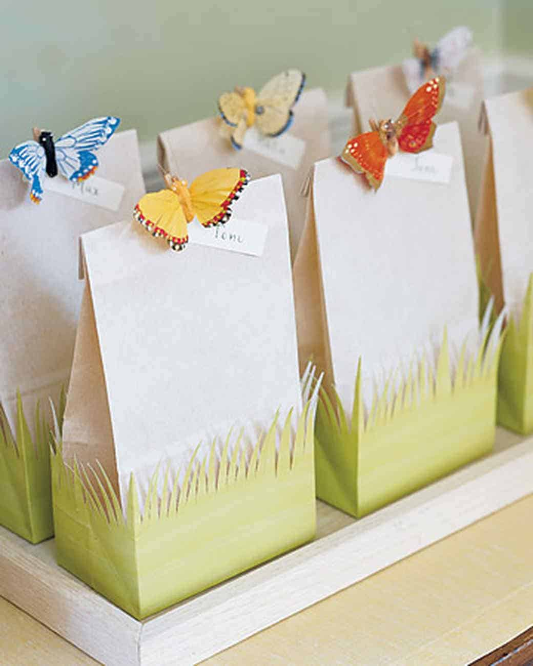 Fanciful handmade favour bags