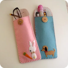 Felt baby animals case