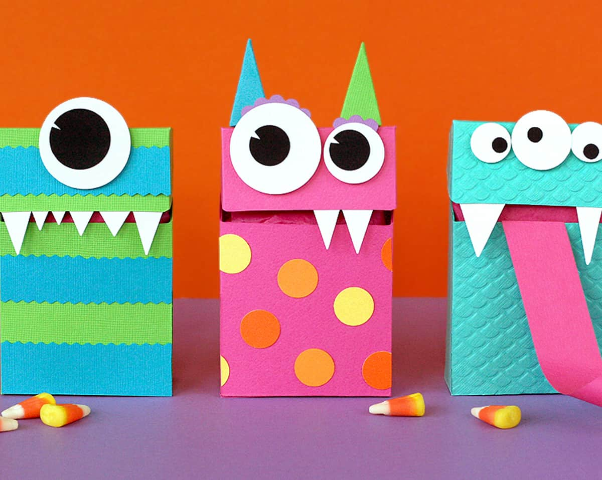 Funny monster candy boxes
