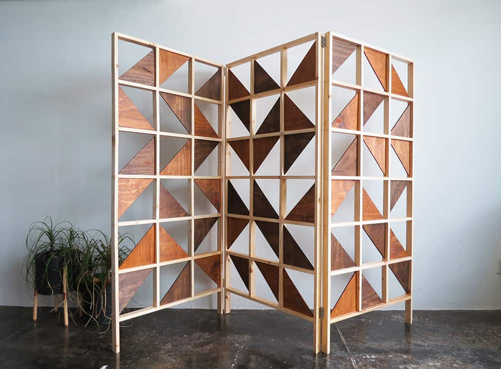 Geometric room divider diy
