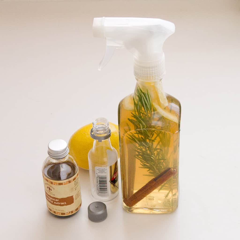 Ginger and lemon kitchen air freshener