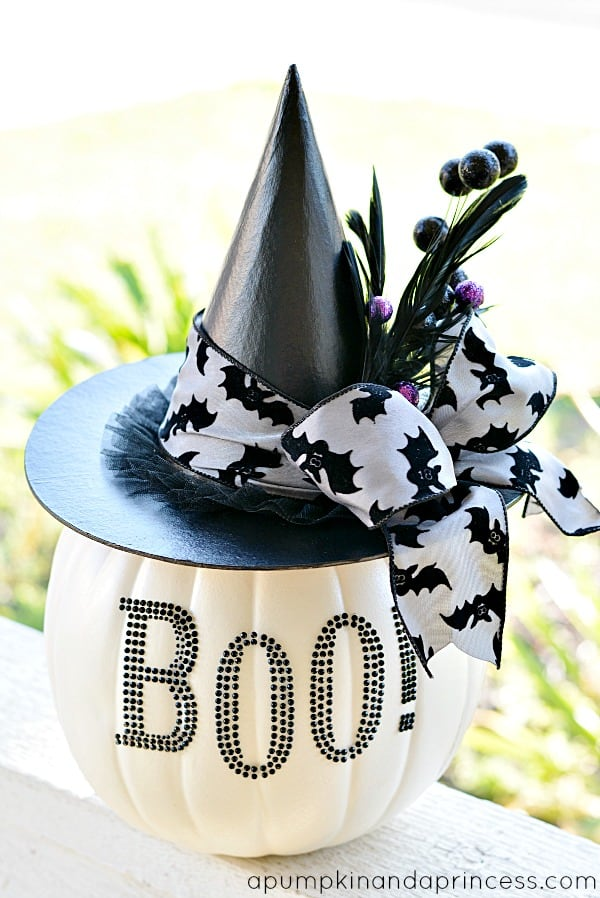 Glam black and white pumpkin