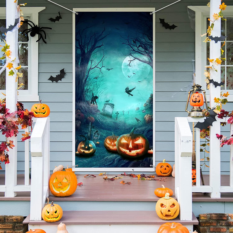 Halloween door cover full moon