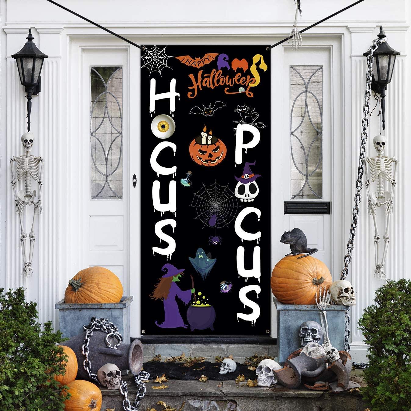 Halloween door decoration ideas hocus pocus
