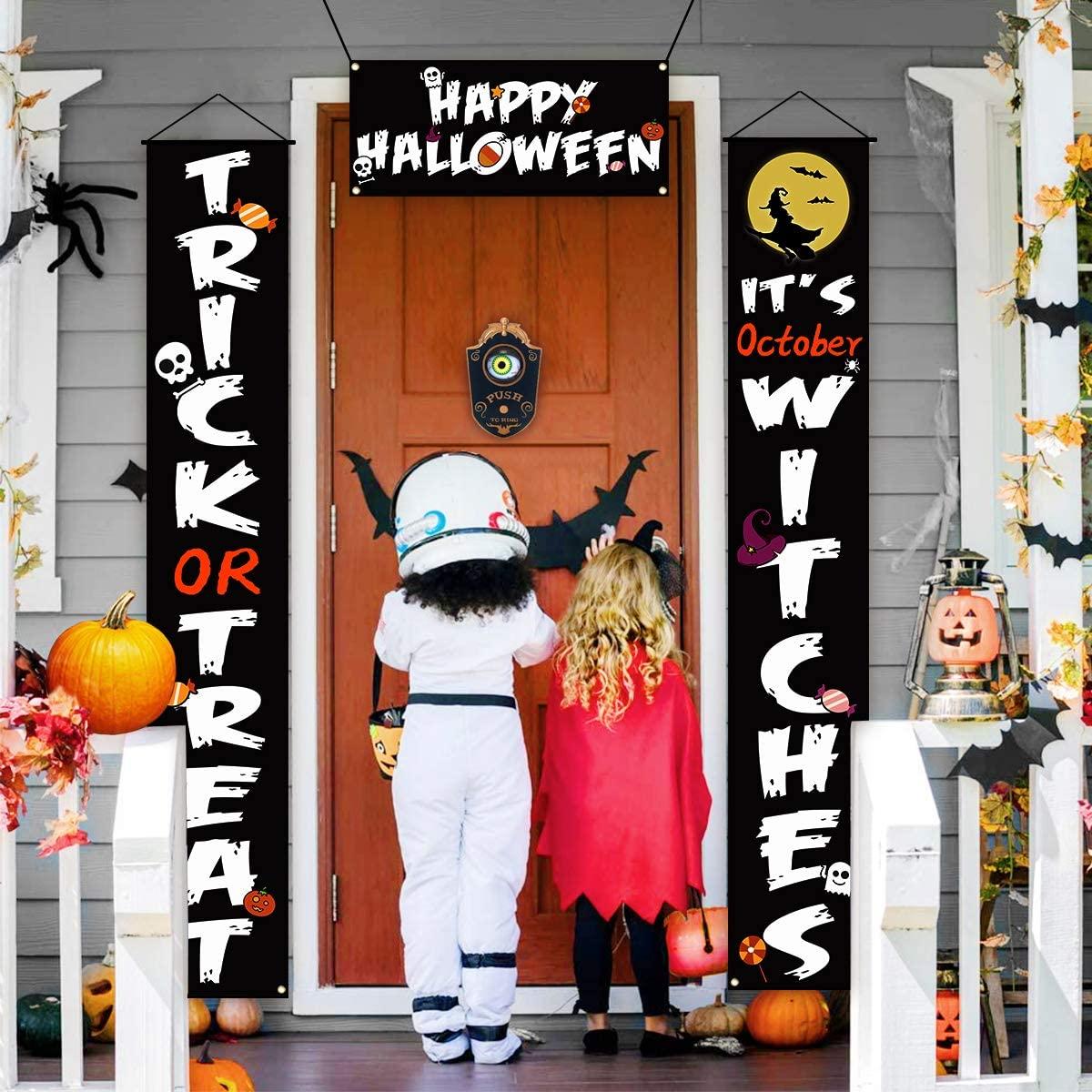Halloween door ideas  animated eyeball doorbell