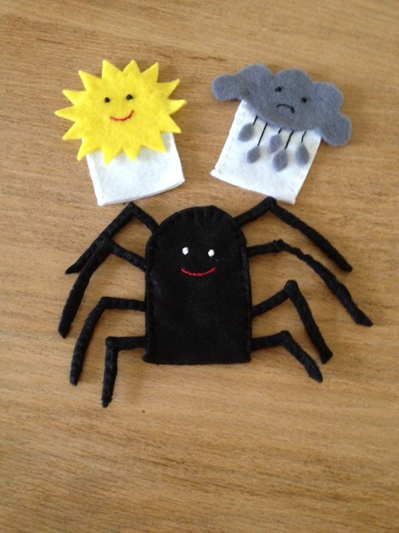 Halloween finger puppets funny spider