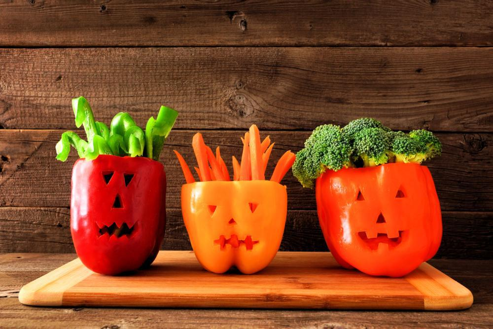 Halloween vegetables and dip easy halloween treats