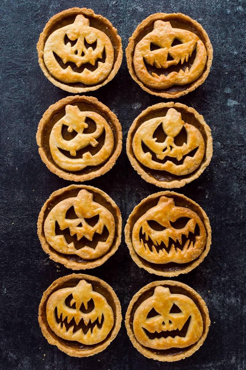 Halloween Jack-O-Lantern Pumpkin Pies