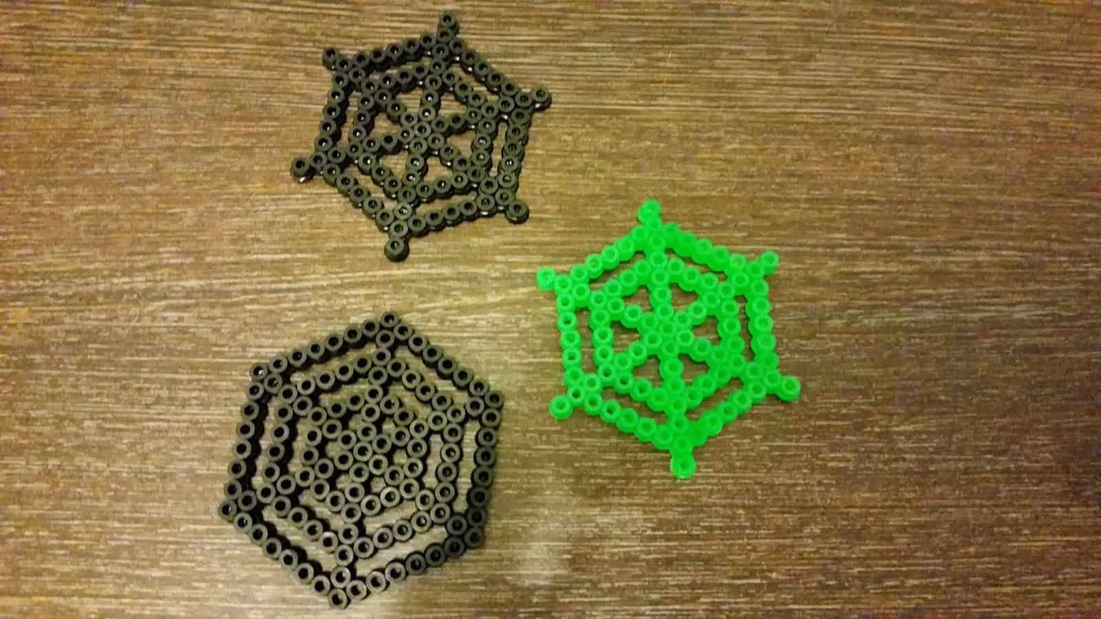Hama bead spider webs