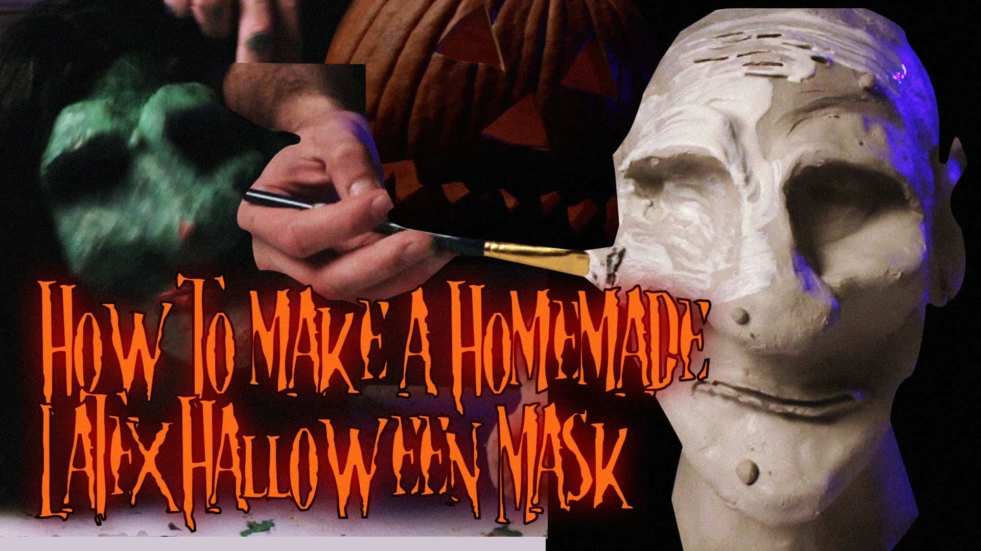 Homemade latex halloween mask