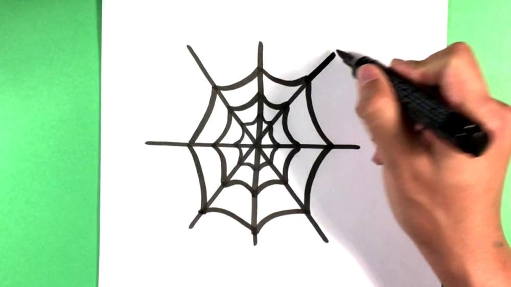 How to draw a spider web