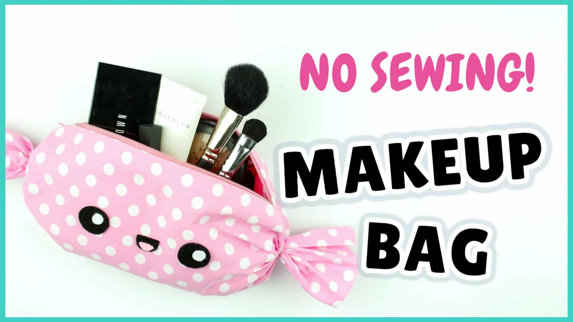 Kawaii candy makeup bag