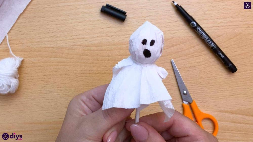 Lollipop ghost halloween arts and crafts