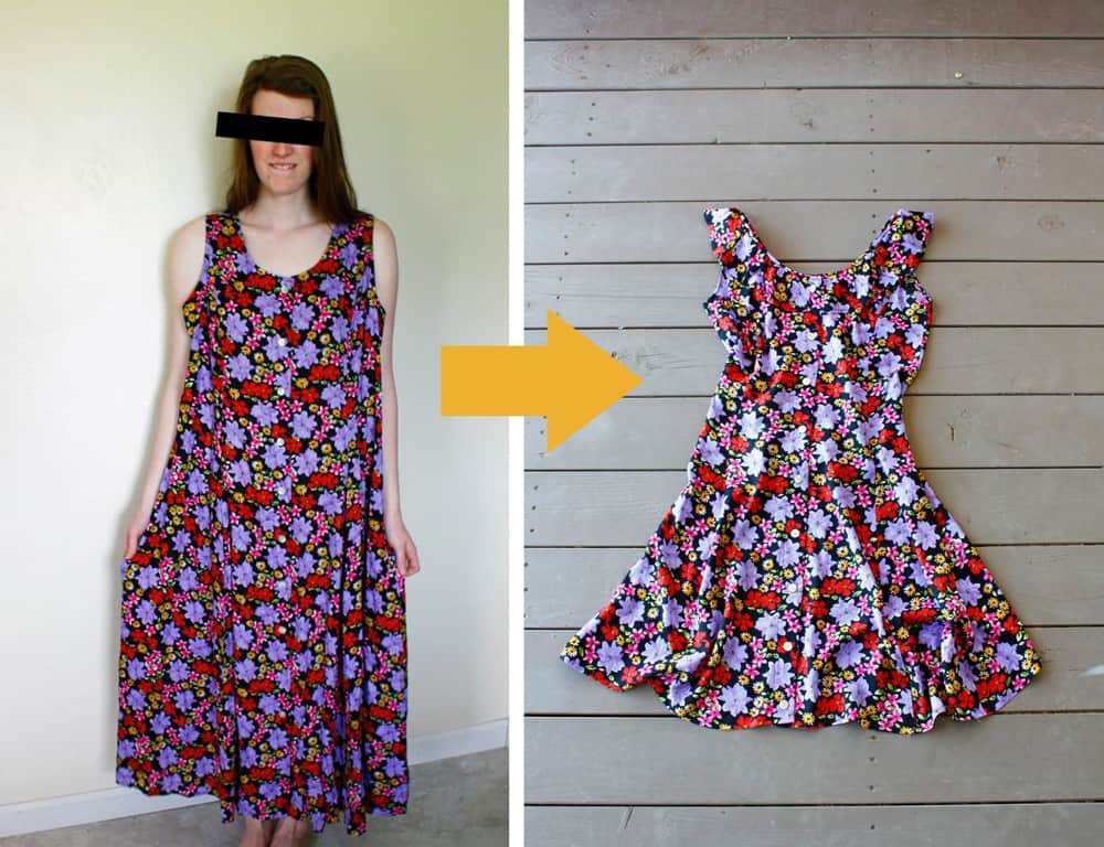 Loose maxi dress to fitted sun dress