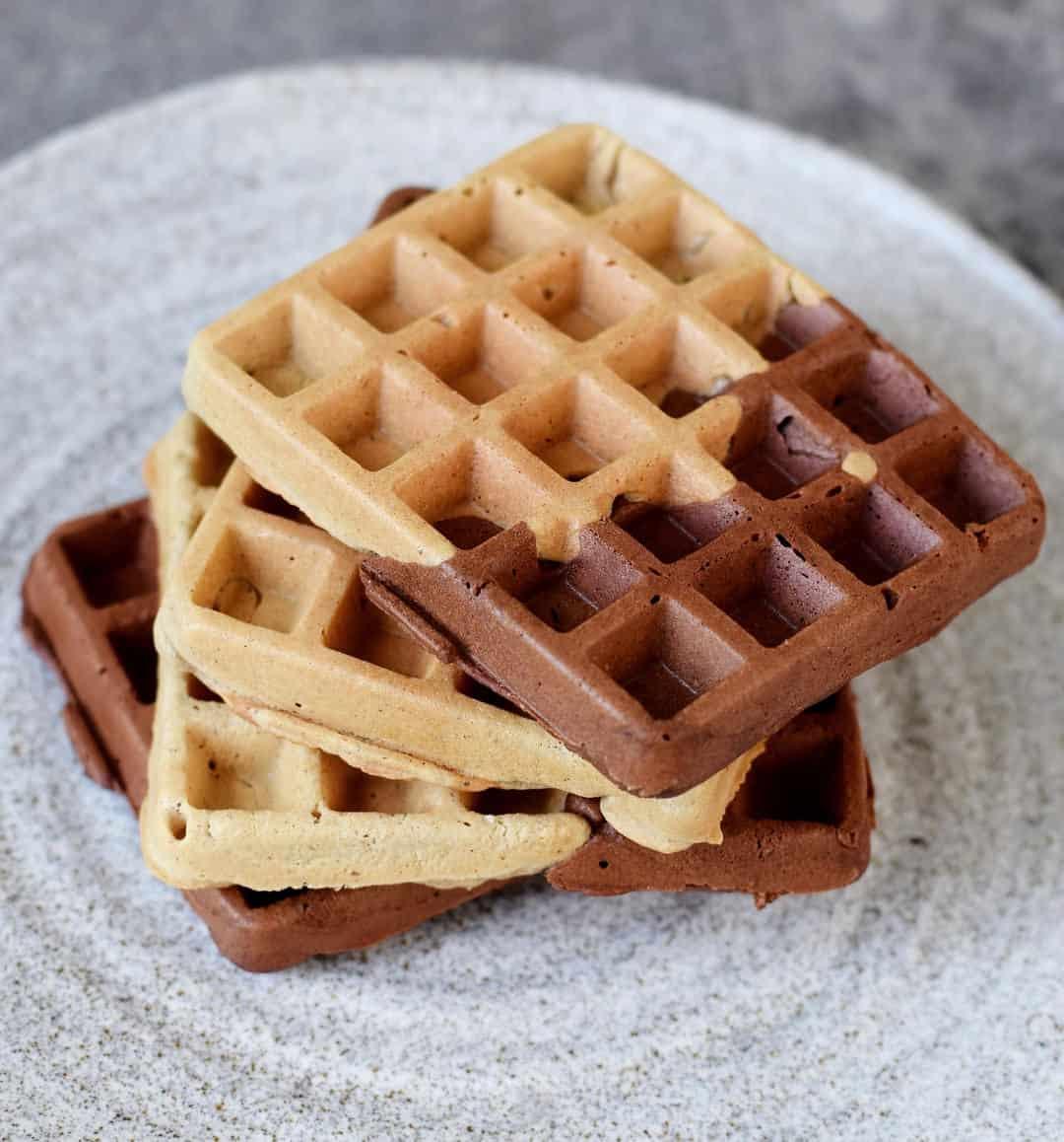 Marbled vegan gluten free waffles