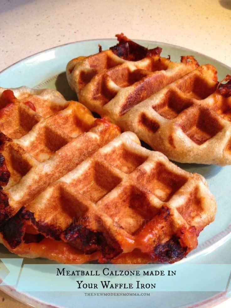 Meatball calzone waffle