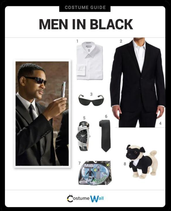 Men in black halloween costume