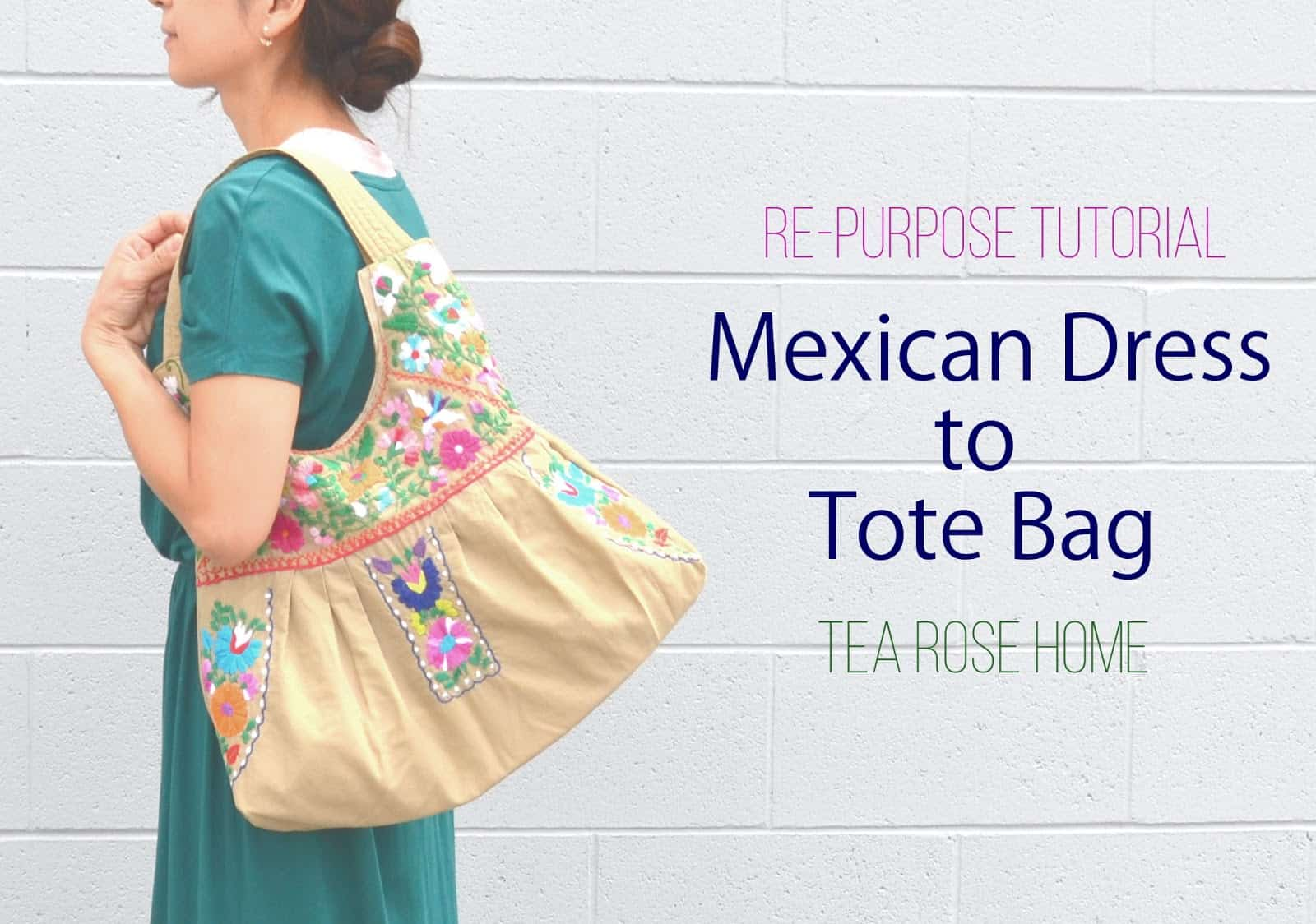Mexican dress to tote bag
