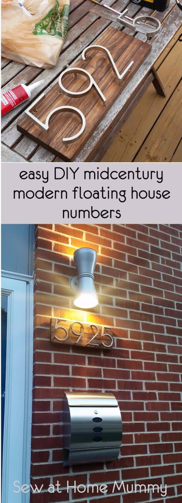 Mid century modern floating numbers