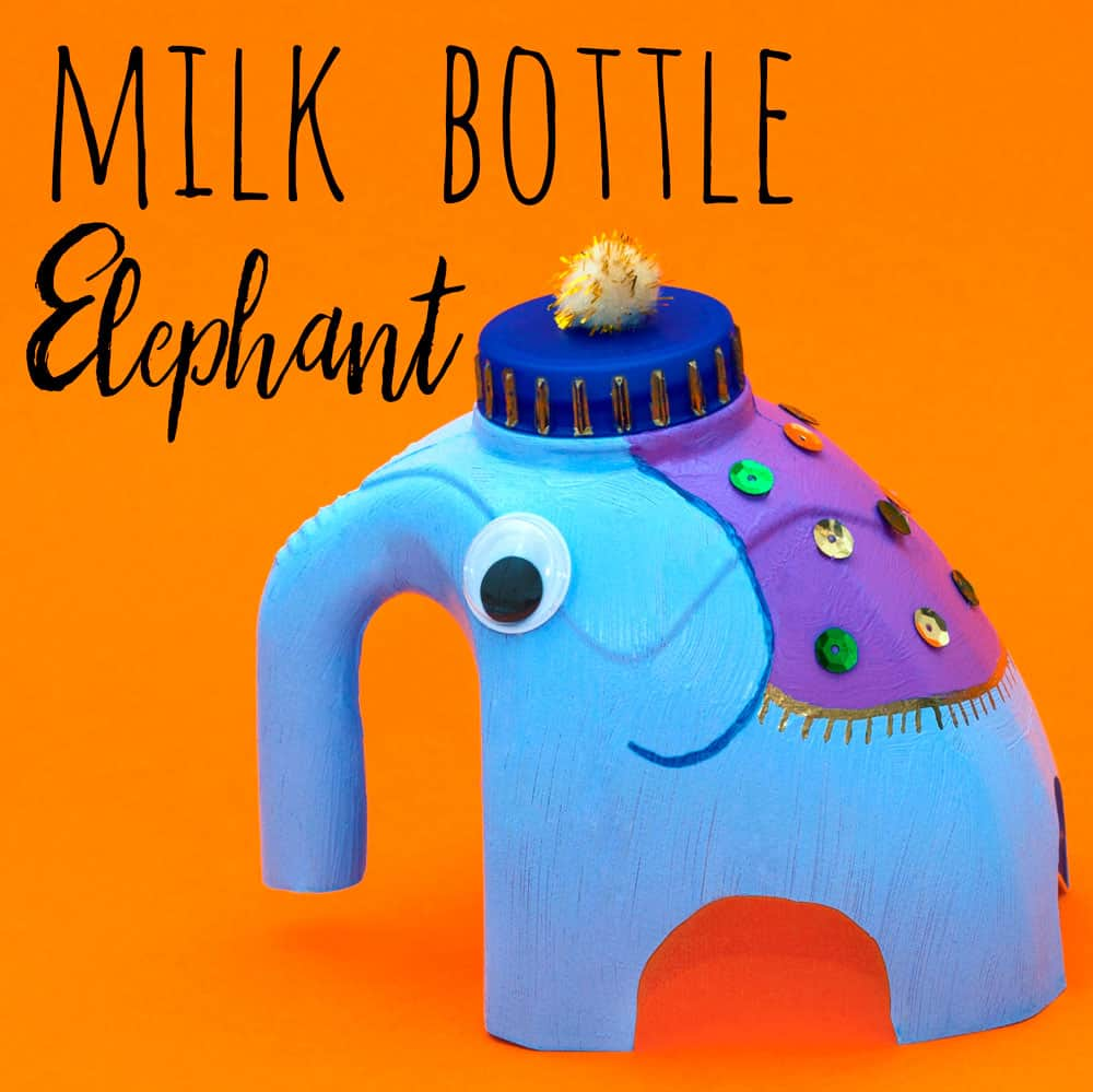 Milk jug elephant