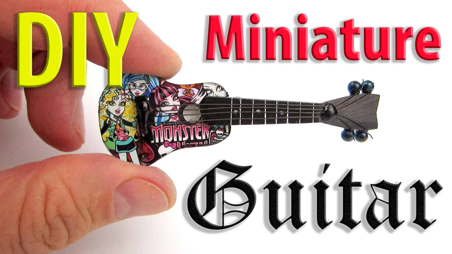 Miniature diy monster high guitar