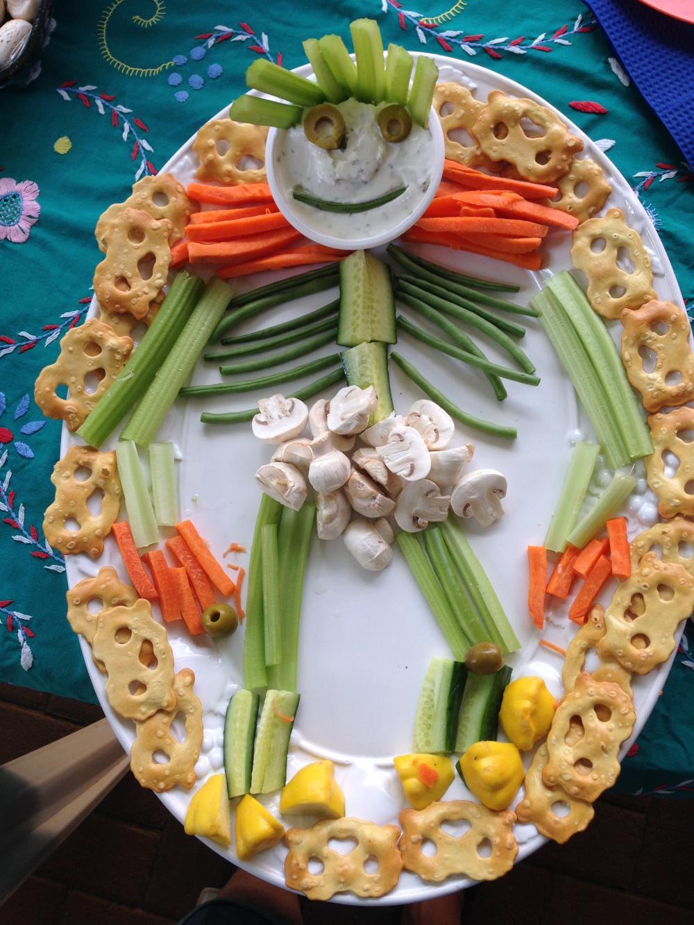 Monster snack platter easy halloween treats