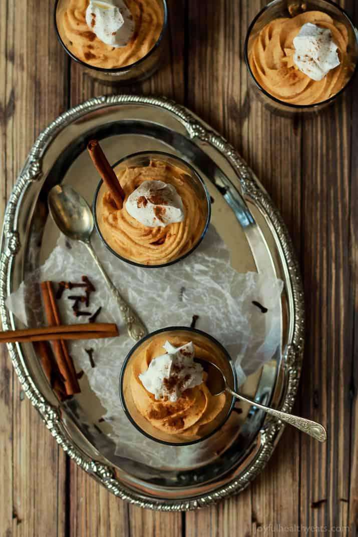 No bake pumpkin cheesecake with gingersnap pecan crust 9