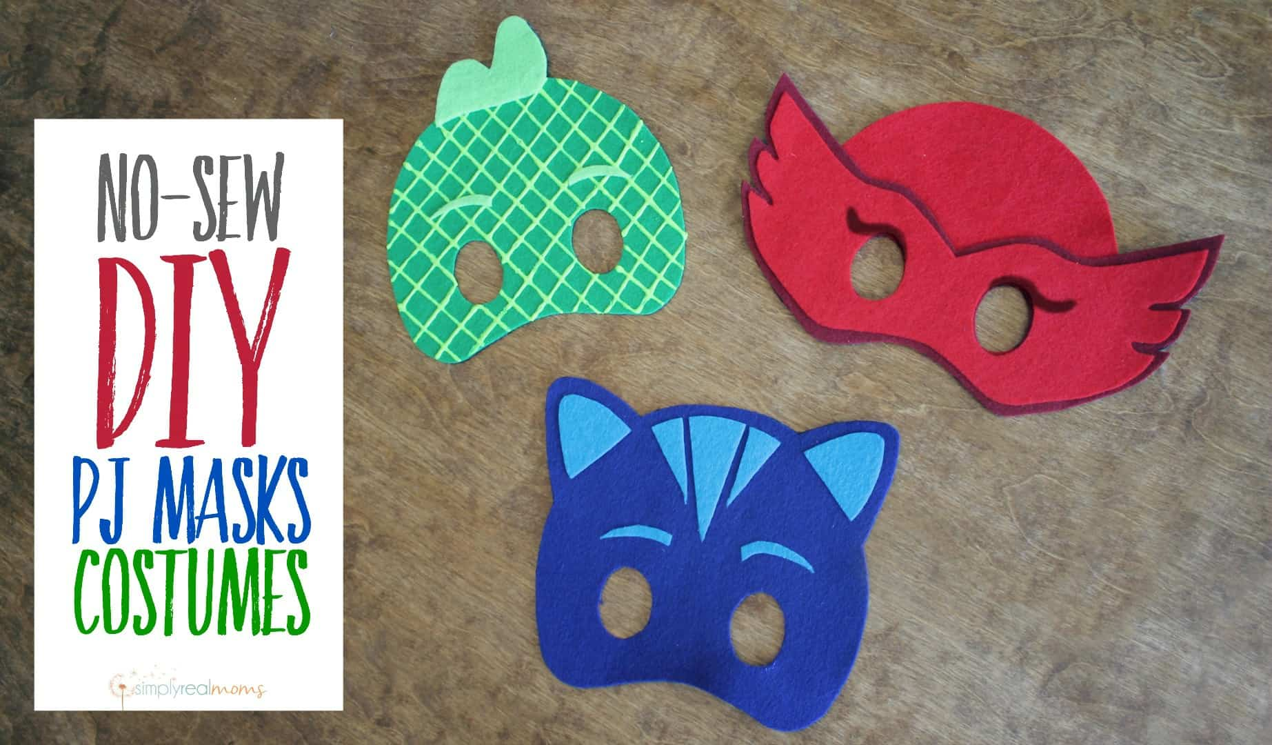No sew diy pjs masks
