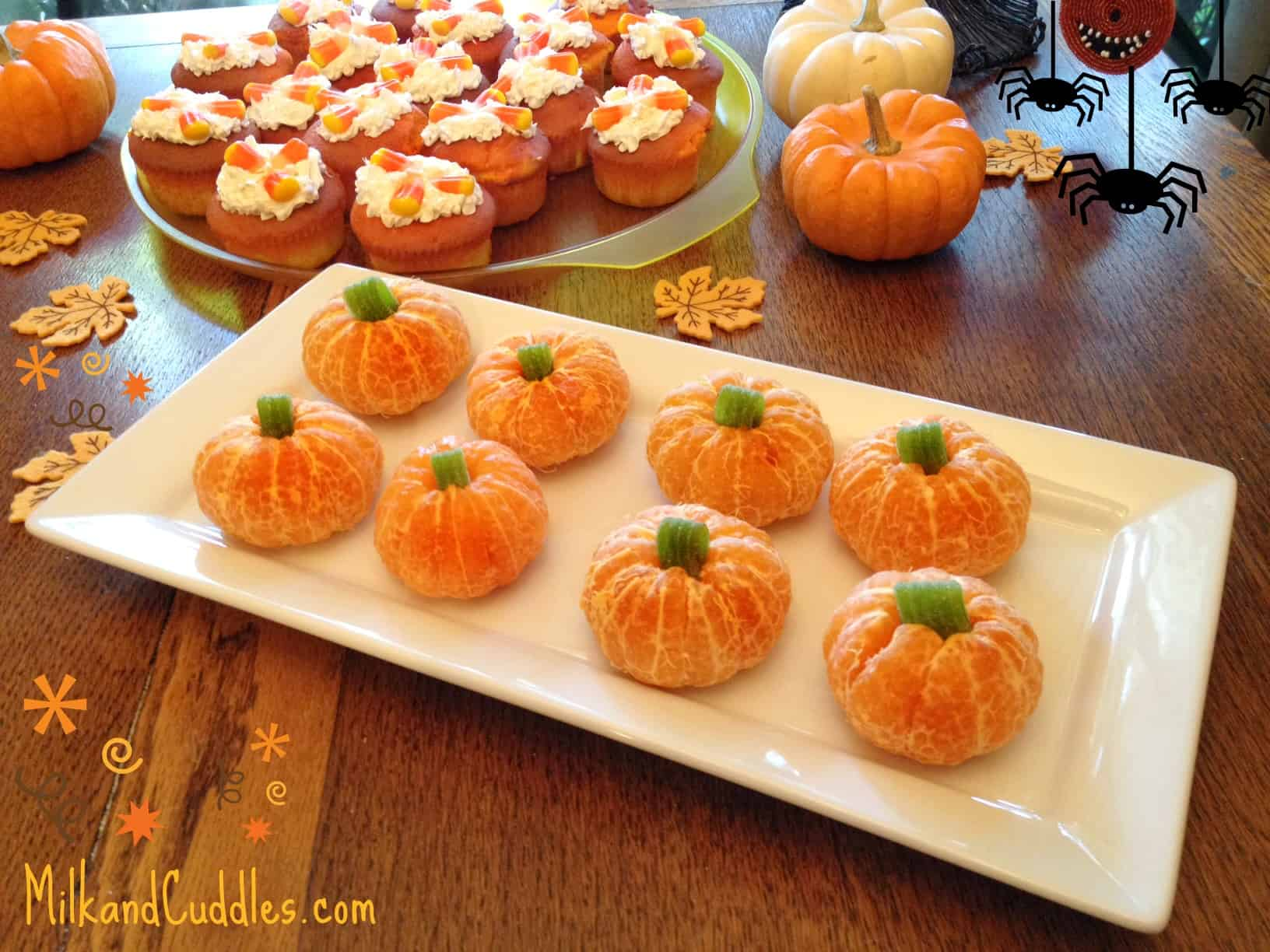5 orange and candy pumpkins