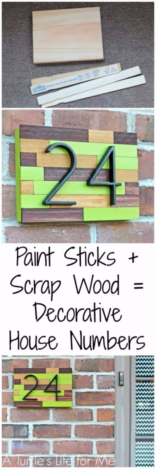 Paint sticks and scrap wood
