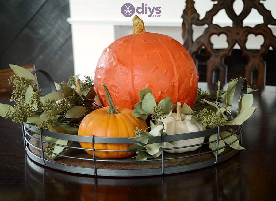 Paper maché halloween pumpkin