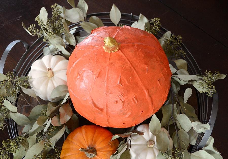 Paper mache pumpkin 10
