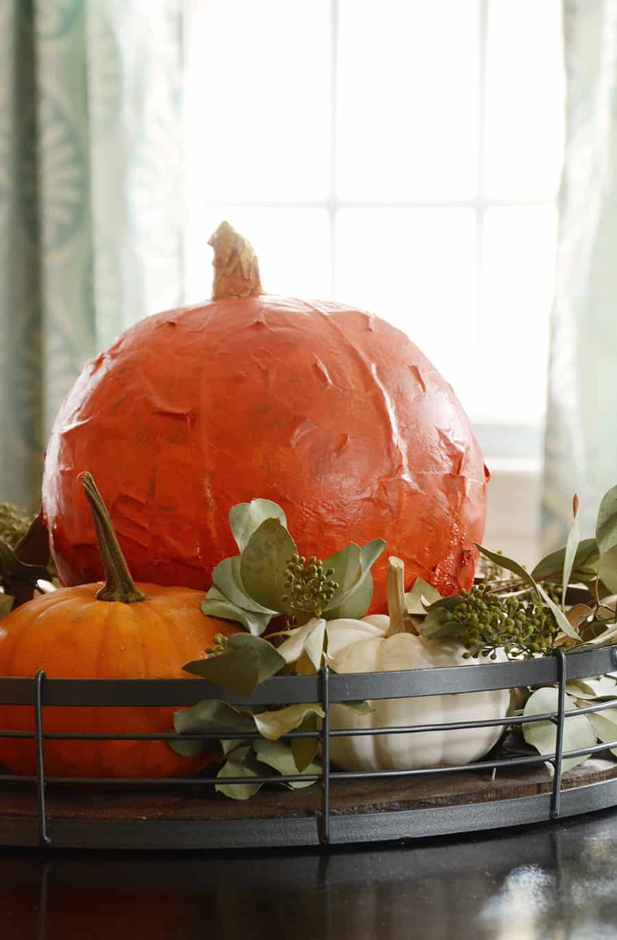 DIY Paper Maché Pumpkin