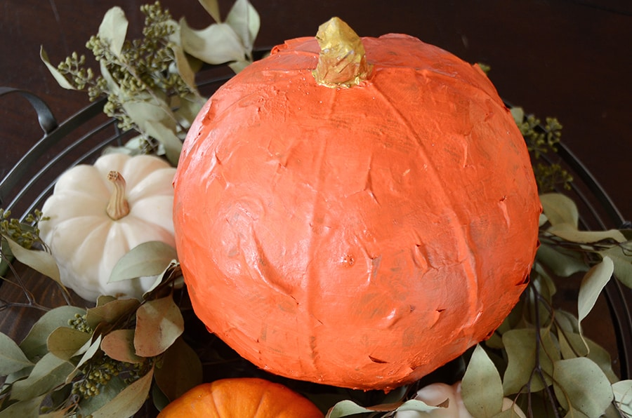 Paper mache pumpkin 12