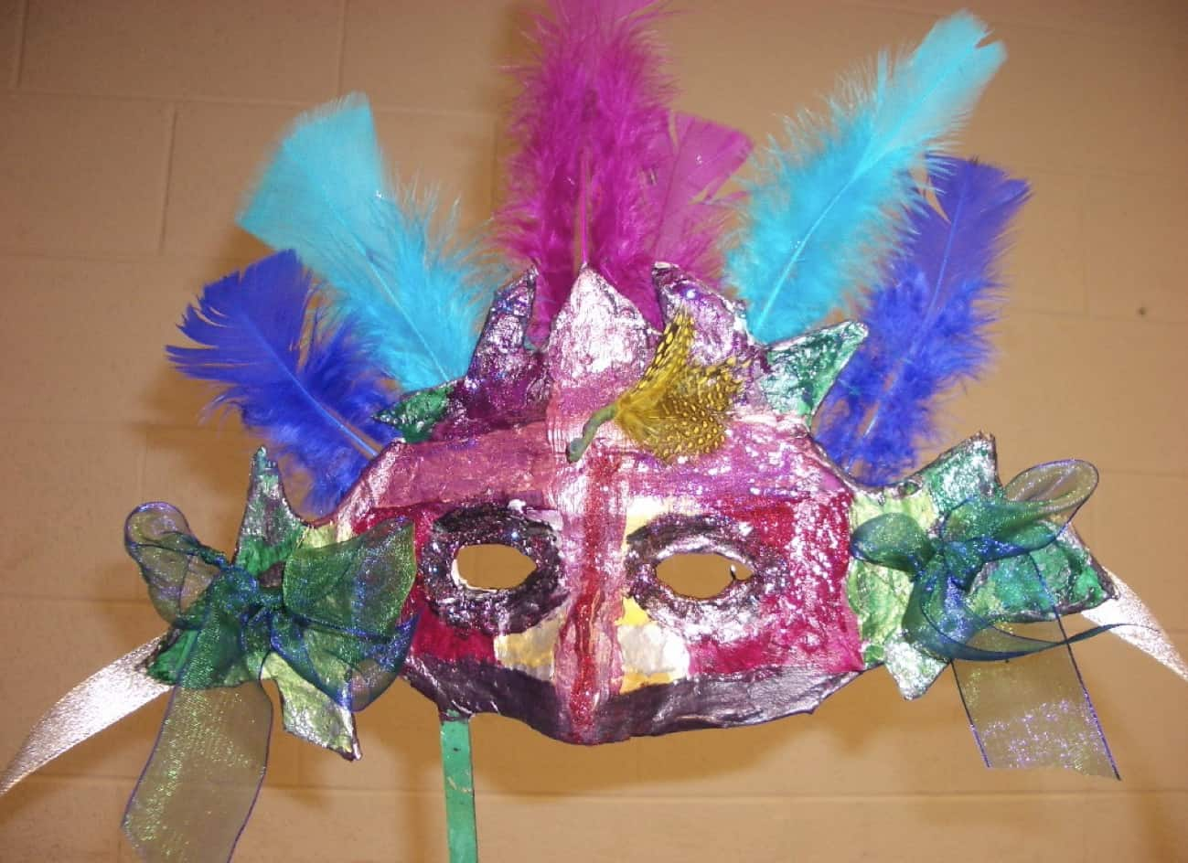 Paper mache venetian carnivale mask