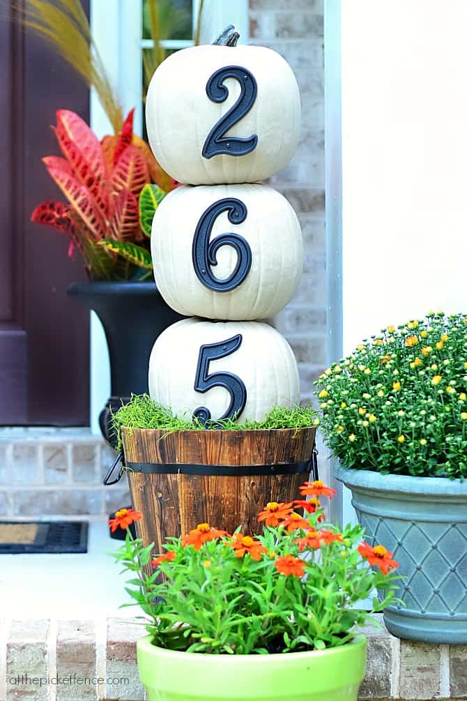 Piled pumpkin numbers