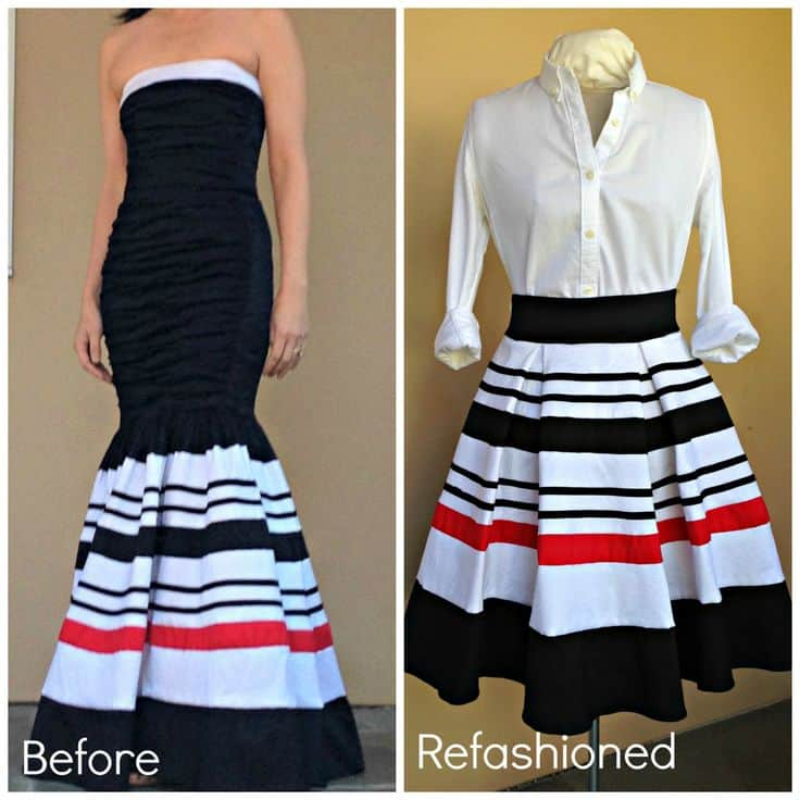 Prom dress to pleated skirt